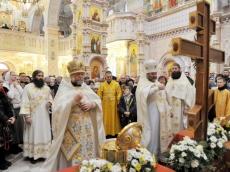 Святыни из Элистинской и Калмыцкой Епархии прибыли в Храм-Памятник