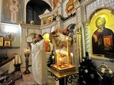 Рождественское богослужение в Храме Иова Многострадального