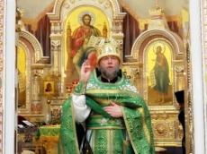 Праздничная Божественная Литургия в вербное воскресенье