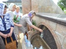 Водосвятный молебен по случаю престольного праздника Свято-Троицкого храма