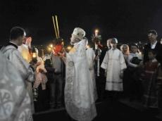 Ночь Воскресения Христова. Взгляд с земли