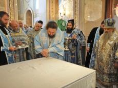 Престол в честь Всех Святых. Освящение