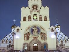 В Храме-Памятнике зажгли Рождественскую Вифлеемскую звезду