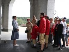 Посты № 1 городов Беларуси и России посетили Всехсвятский Храм-Памятник