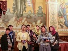 Узбекская молодежь посетила Всехсвятский Храм-Памятник
