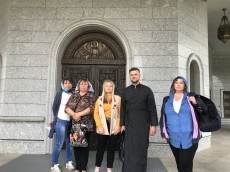 6 сентября Храм-Памятник в честь Всех Святых посетили паломники из Бобруйска