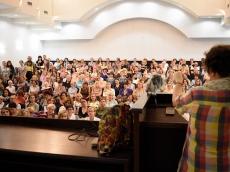Молодежная группа Всехсвятского прихода, посетила открытую лекцию в Минской духовной академии.