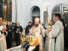 Панихида по новопреставленному архимандриту Феодосию