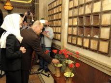 Память погибших во время Великой Отечественной войны детей почтили в Крипте Храма-Памятника